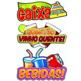 Painel Decorativo Caixa Quentão e Bebidas - Festabox