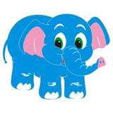 Painel Decorativo EVA Elefante - Festabox