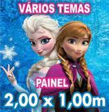 Painel Decorativo Festa Infantil Lona 2x1m Envio 24hrs - X4adesivos