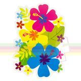 Painel Decorativo Flores Festa Havaiana Paper Fest - Festabox