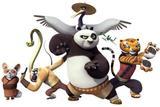 Painel decorativo Kung Fu Panda  150x100cm - X4adesivos