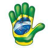 Painel Decorativo Mão Brasil Festança - Festabox