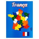 Painel Decorativo Mapa França - Festabox