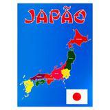 Painel Decorativo Mapa Japão - Festabox