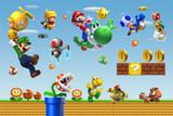 Painel decorativo Mario Bros  150x100cm - X4adesivos