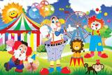 Painel Festa Circo 150x100cm - X4adesivos