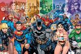 Painel Festa Liga da Justiça  150x100cm - X4adesivos