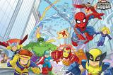 Painel Festa Super Squad Heroes  150x100cm - X4adesivos