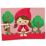 Painel Gigante para Decoração Chapéuzinho Vermelho Festcolor - Festabox