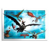 Painel Gigante para Decoração Como Treinar seu Dragão Festcolor - Festabox