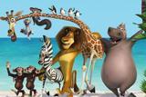 Painel lona festa Madagascar 150x100cm - X4adesivos