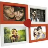 Painel Love Para Parede 4 Fotos Branco Com Vermelho 61072 - Kapos