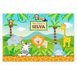 Painel para Decoração Bem-Vindo à Selva Junco - Festabox