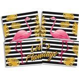 Painel para Decoração Flamingo Gold  Festcolor - Festabox