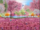 Painél sublimado em tecido - Jardim Encantado 1,50x3 - T  m decor