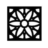 Painel Vazado Em MDF Tipo Cobogó Marraquexe Pintado de Preto Fosco dos dois lados - Bezalel madeiras
