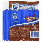 Palito de Madeira Escolar Azul Theoto 100 Unidades