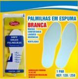 Palmilha de Espuma - Latex de EVA - Branca - Tam: 40 - Qualype