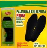 Palmilha de Espuma - Latex de EVA - Preta - Tam: 44 - Qualype