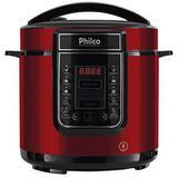 Panela de Pressão Digital Philco 6L Inox Vermelha