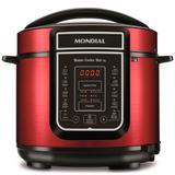 Panela de pressão elétrica digital 5 litros Master Cook Red - PE-39 (110V) - Mondial