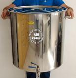 Panela inox 201 - 160 litros + válvula - Primo cervejeiro