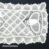 Pano de Bandeja em Renda Renascença Feito a Mão 26x15 cm - Jutnet rendas