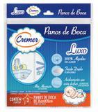 Pano De Boca Luxo Bordado Cremer Pacote Com 3 Unidades Menino - Azul - 35x35cm