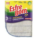 Pano Ecologico Cru de Limpeza Esfrebom Para Pia 3 peças - Bettanin