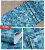 Papel Adesivo Contact De Parede Pastilha Azul 45 Cm X 5 Metros - Filipack adesivos