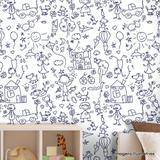 Papel de Parede Infantil Primeiros Desenhos Texturizado Autocolante - Cololóla decoração