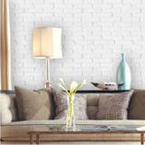 Papel de Parede Tijolinho Branco e Cinza - Inove papéis de parede