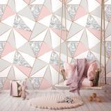 Papel de Parede Zara Mármore Rose Gold - Inove papéis de parede