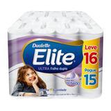 Papel higienico folha dupla elite leve 16 pague 15 rolos de 30m - Softys