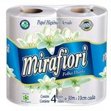 Papel higiênico miraflores com 4 unidades de 30 metros cada - Mirafiori