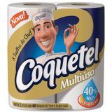 Papel Toalha COQUETEL 02 Rolos com 60 Unids - Multiuso - Carta fabril