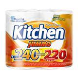 Papel toalha kitchen jumbo leve 240pague 220 folhas - Softys