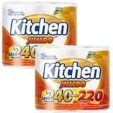 Papel toalha kitchen jumbo leve 480 pague 440 folhas - Softys