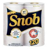 Papel toalha snob branco 12pct c/2 rolos 60fl - Santher