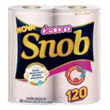 Papel toalha snob decorado 12pct c/2 rolos 60fl - Santher