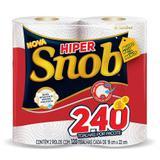Papel toalha snob hiper branco 10pct c/2 rolos 120fl - Santher