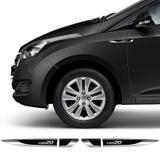 Par Aplique Lateral Hyundai Hb20 2013/2019 Emblema Resinado - Sportinox