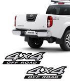 Par de Adesivos 4x4 Off Road Nissan Frontier Escovado 09/16 - Sportinox
