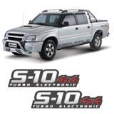 Par De Adesivos S10 2009/2011 Turbo Electronic 4x4 Vermelho - Sportinox