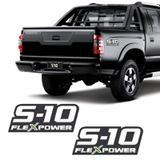Par De Adesivos S10 Flex Power 2009 2010 2011 Emblema Verde - Sportinox