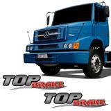Par De Adesivos Top Brake Mercedes Benz Emblemas Resinados - Sportinox