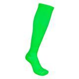 Par de meia de compressão anatômica  - Lisa Verde Neon - Fm (fábrica de meias)