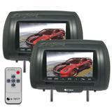 Par Encosto / Descanso De Cabeça E-Tech - Universal - Couro Tela LCD 7 - 2 Peças