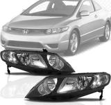 Par Farol Honda New Civic 2007 2008 2009 2010 2011 2012 - Sbc peças