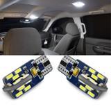 Par Lâmpadas LED T10 W5W Pingo 6000K Canbus 24 LEDs Branca Placa Teto Porta-Malas Luvas Lanterna - Shocklight